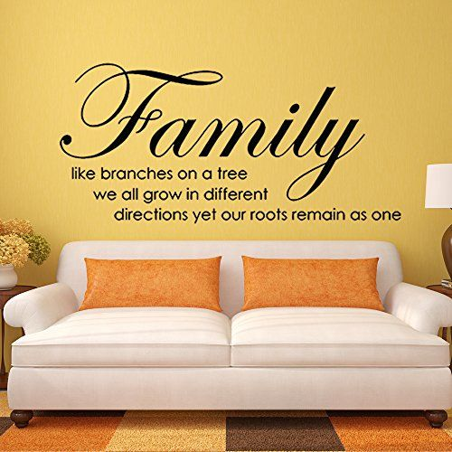 Family Like Branches on A Tree Wall Stickers Vinyl Quotes Wall ...