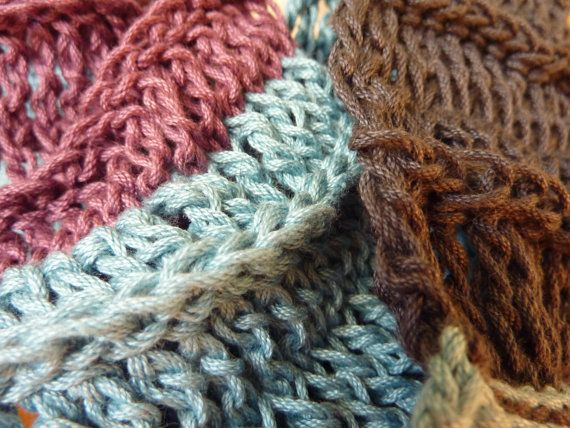 Cotton colorblock circle scarf