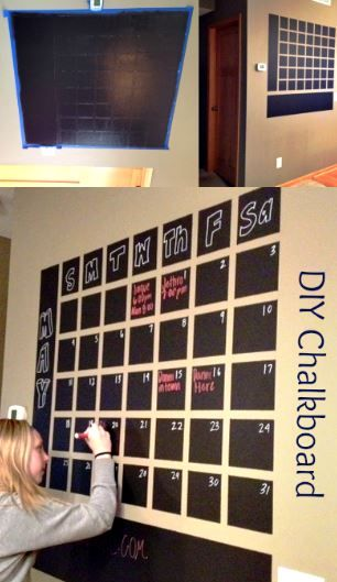 Diy Office Calendar : Diy chalkboard wall calendar i have always loved looking