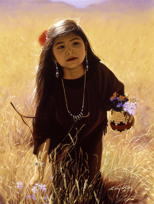 native american children paintings Native American