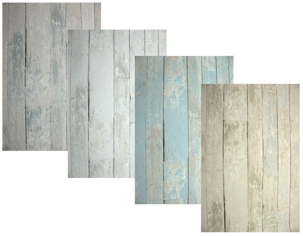 Details Zu Vlies Tapete Antik Holz Rustikal Grau Beige Toop Blau Türkis  Bretter Verwittert