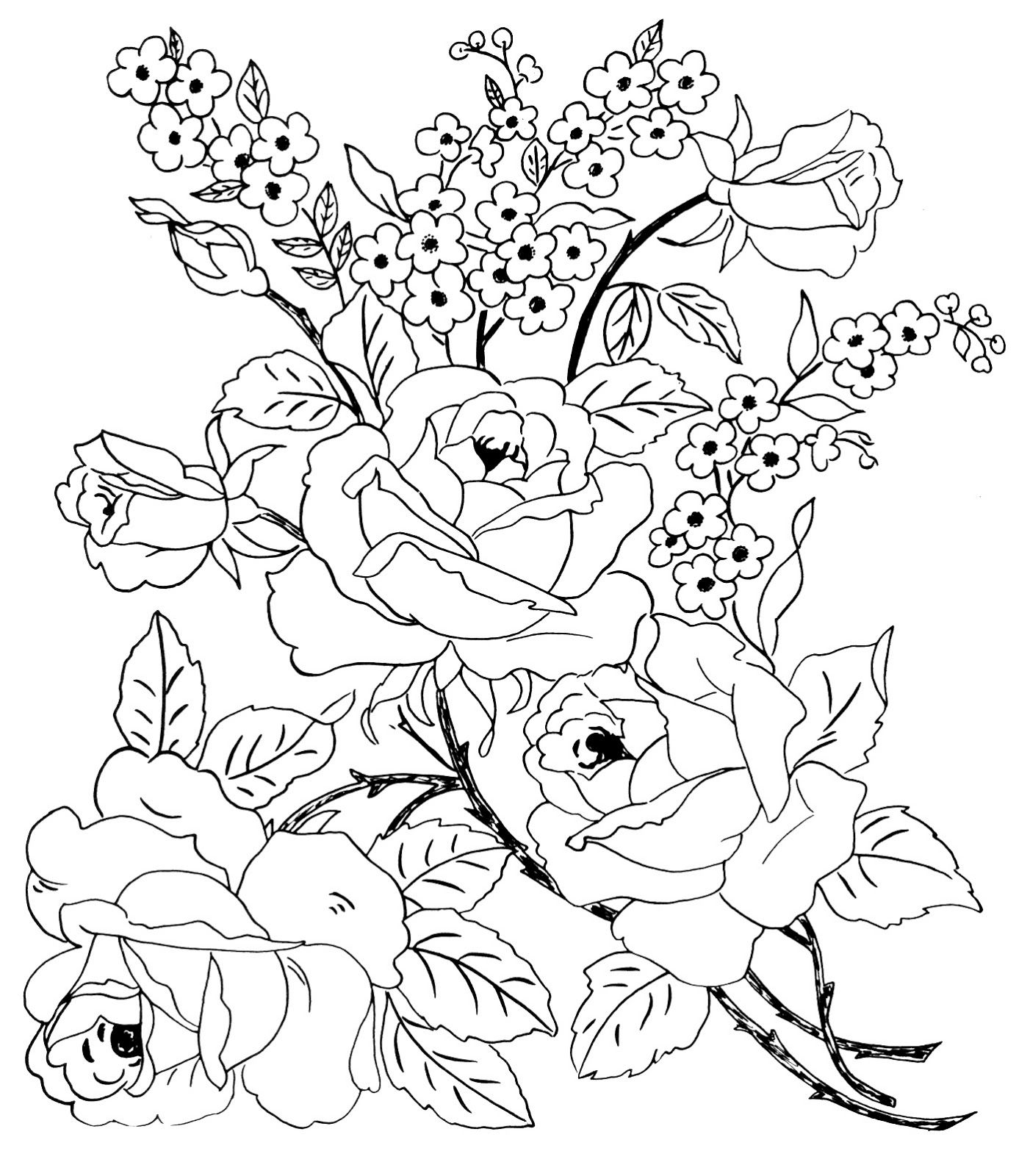 Rosevine Dtt Jpg 1402 1600 Flower Coloring Pages Fabric Painting Coloring Pages