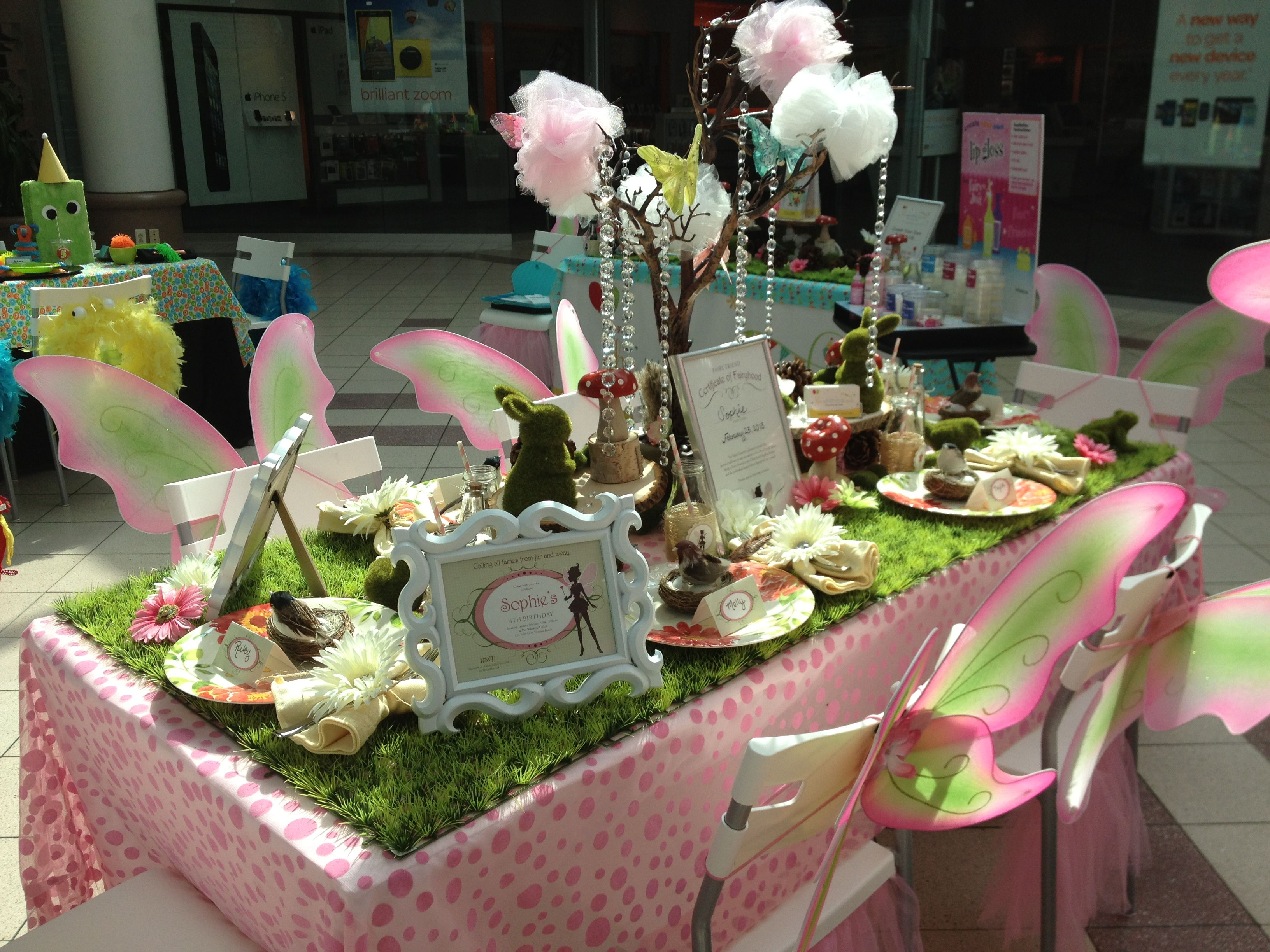 Enchanted fairy table set up fairy parties fabulous
