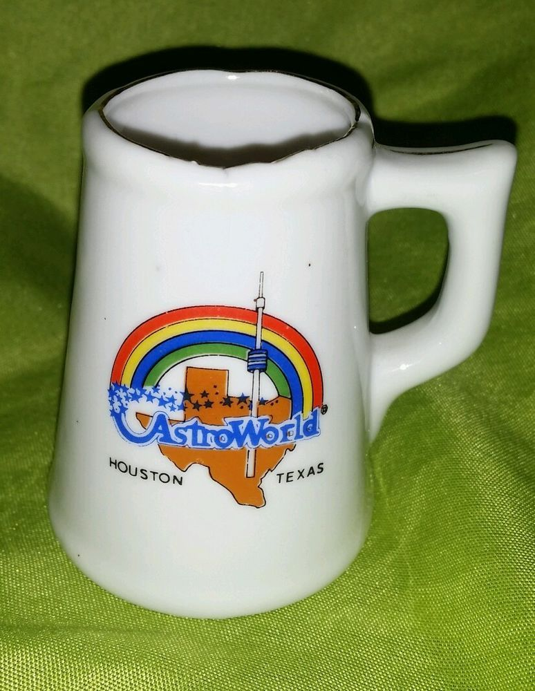 Astroworld Houston Texas Mug Stain Coffee Cup Vintage Rainbow Tiny Collectible Astroworld Houston Houston Texas Mugs