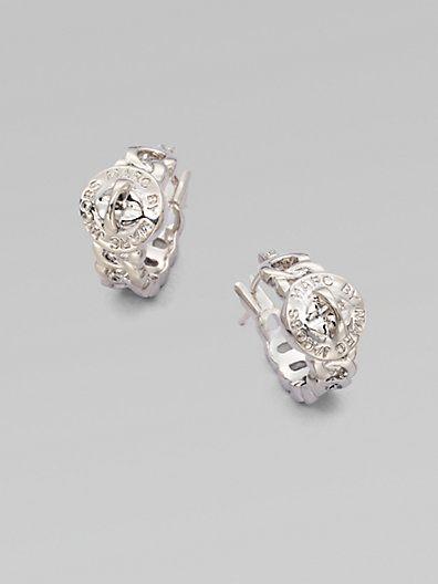 Marc By Jacobs Structured Turn Lock Hoop Earrings