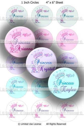 Pink Chevron Bottle Cap Images 1-12 Months: Birthday Girl Hair Bow Printable Circles 016 Cupcake Toppers Baby Milestone Bottlecap Images
