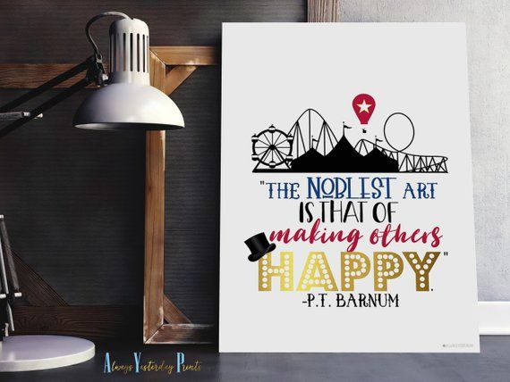 PT Barnum Quote Printable Wall Art Circus Theme Print
