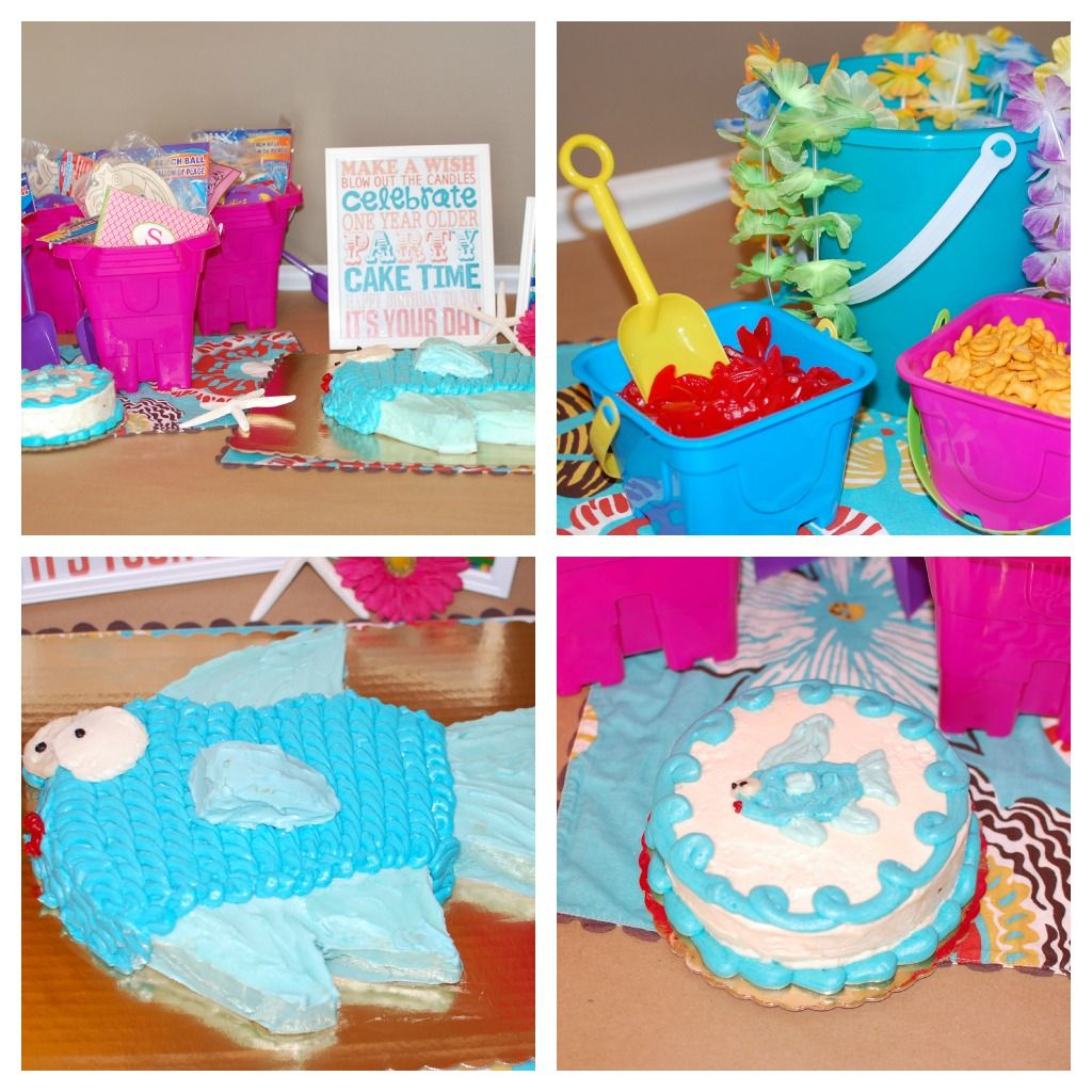 beach birthday party love the idea to serve food in sand buckets