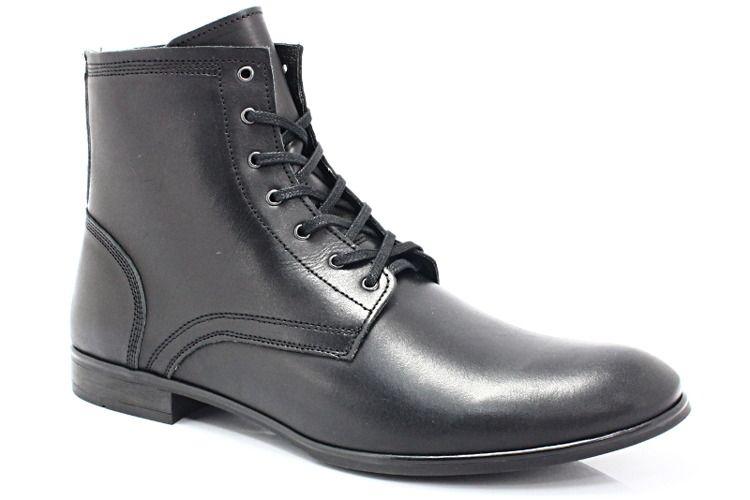 Kent 287 Czarny Wysokie Buty Meskie Casual Buty Meskie Zimowe Buty Meskie Casual Pora Roku Meskie Jesien Pora Roku Meskie Boots Combat Boots Shoes