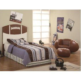 Football Twin Headboard By CrownMark Furniture
