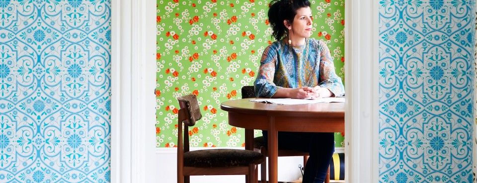 Contrating Vintage Wallpapers Sarah Mitchenall With Images