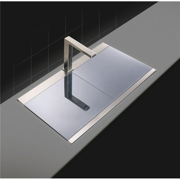 Clearwater Glacier Stainless Steel Sink Silver Glass Covered Sink Stainless Steel Sinks Sink Double Bowl Kitchen Sink