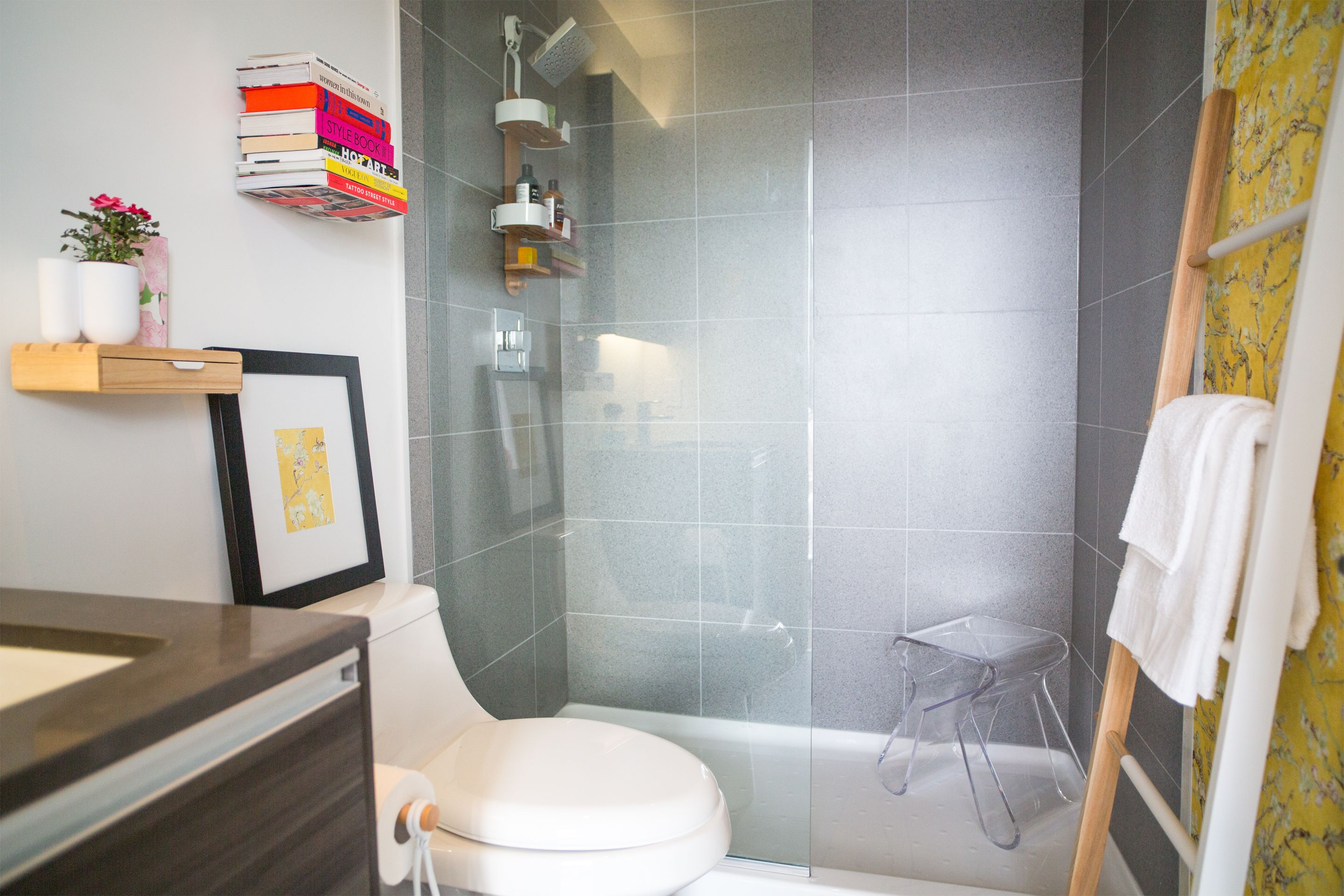ashley freeman design condo bathroom with umbra small bathroom design