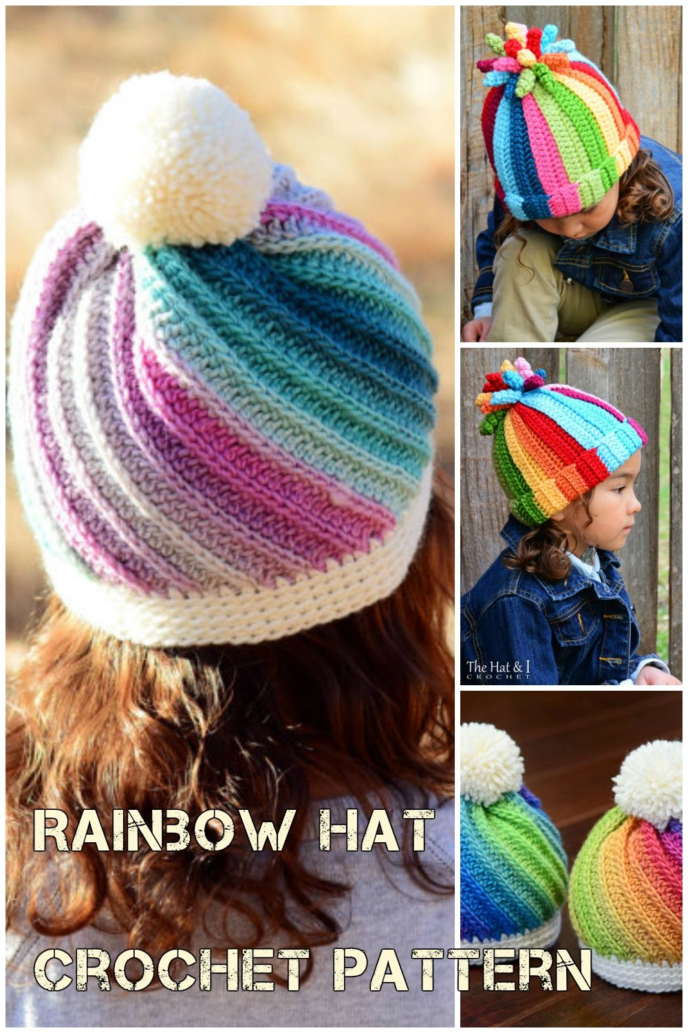 0c729186bc0 Crochet Rainbow Hat Pattern And Crochet Swirl Hat Pattern | Get your hands  on this crochet