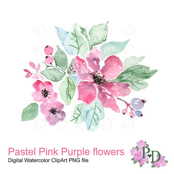 Pastel pink purple watercolor flower clip art digital floral pastel pink purple watercolor flower clip art digital floral clipart sweet spring hand painted flower clip at digital scrapbooking flower mightylinksfo Image collections