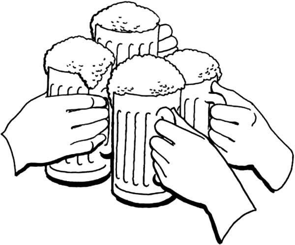 Beer Cheers Holiday Of Beer Coloring Pages Cheers Holiday Of Beer Coloring Pagesfull Size Image Coloring Pages Food Coloring Pages Color