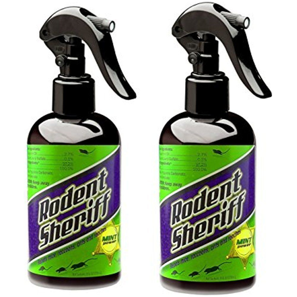 rodent sheriff get rid of rats and mice easily 2 bottles natural