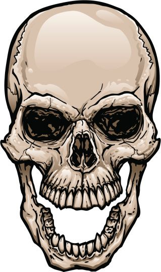 Skull Jaw Tattoo: 165628919-skull-with-wide-open-mouth-gettyimag By