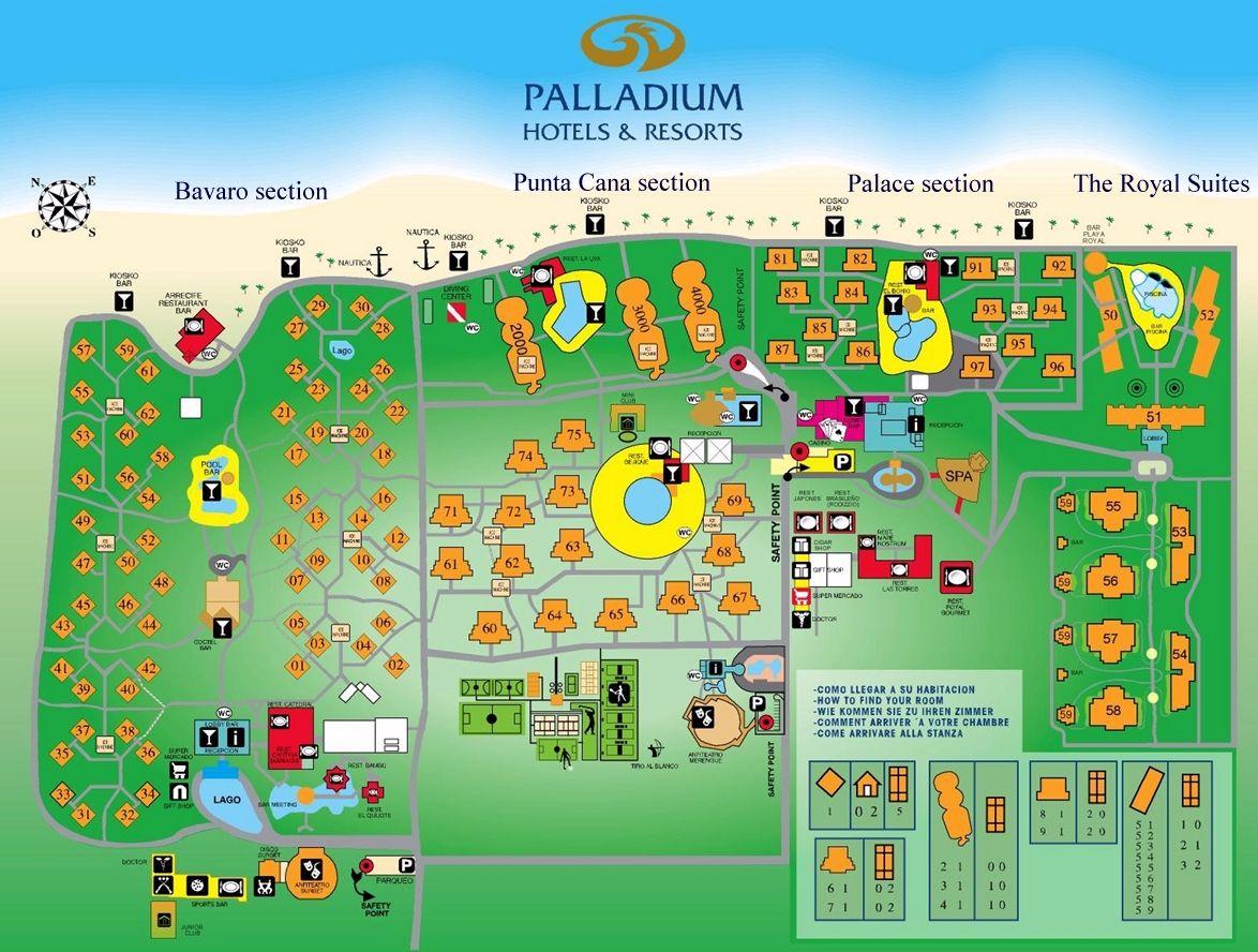 Resort Map Grand Palladium Punta Cana Punta Cana D R Punta