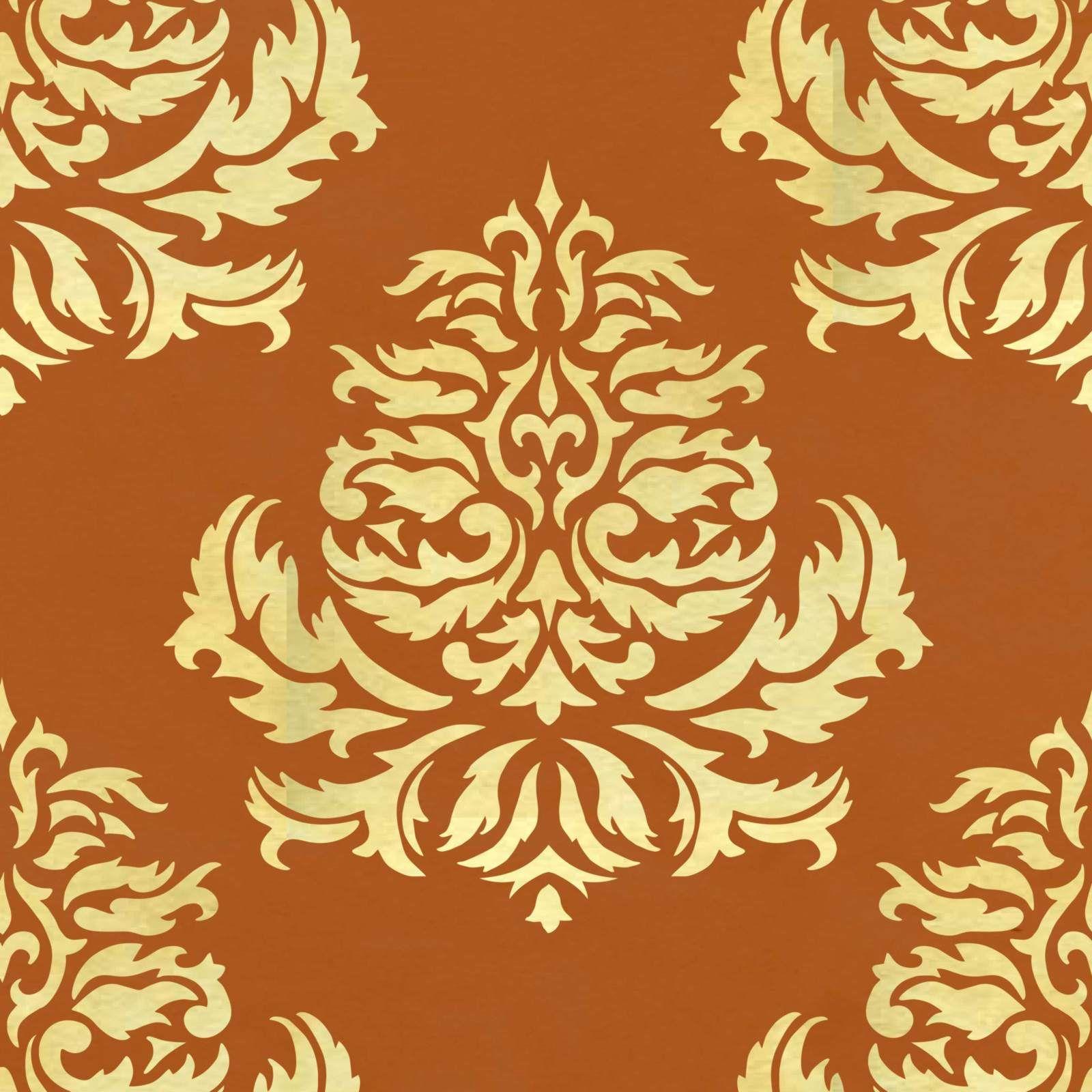 Classic Damask - Large Pattern Stencil Design 0153A | Print Patterns ...