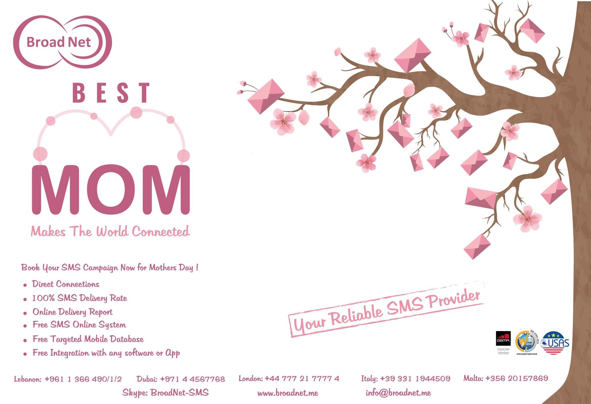 Book Your Bulk SMS Campaign Now for Mothers Day! Broadnet