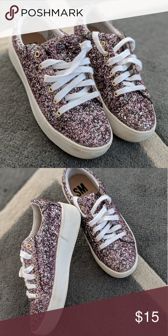 497e3186db Sneakers Pink glittery sneakers that are lightly worn but well taken care  of! Really adorable