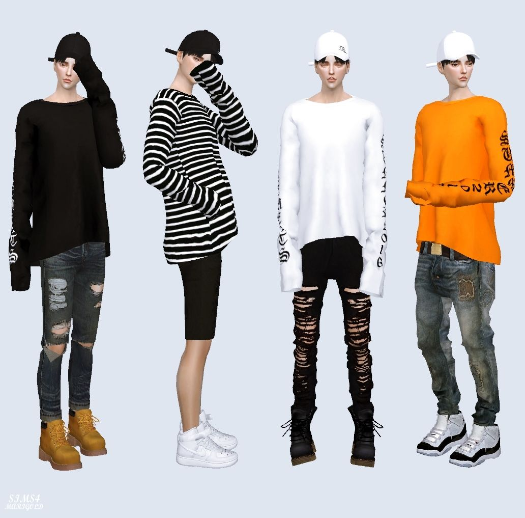 Long sleeves top long sleeve top male costume sims4 for Best mens dress shirts under 50