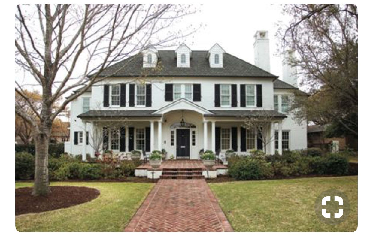 exterior colonial house design. 1 - American Colonial Exterior Steep Roof, Symmetrical, Shudder/row Of Windows, Traditional Black And White. House Design E