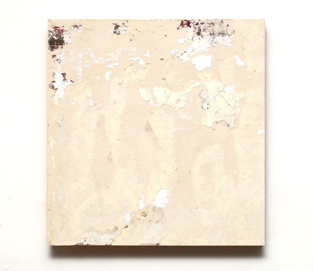 "Gabriel de la Mora, ""T-1 Edison 169"", 2013, Back of wallpaper on cardboard and wood, 36.7 x 35 x 4.2 cm. Image courtesy of the artist"
