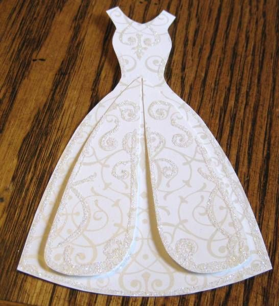 Wedding Dress Template Wedding Dress By Lpratt Cards And Paper Crafts At Splitcoaststampers Wedding Dress Template Wedding Cards Stampin Up Wedding Cards