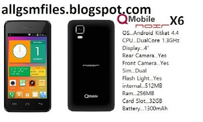 Qmobile Noir X6 Latest Flash Files And Scatter Files Free Phone