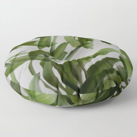 Tropical leaves Floor Pillow    #tropical, #leaves , #palm, #palmleaves  #floorpillow , #cushions , #homedecor