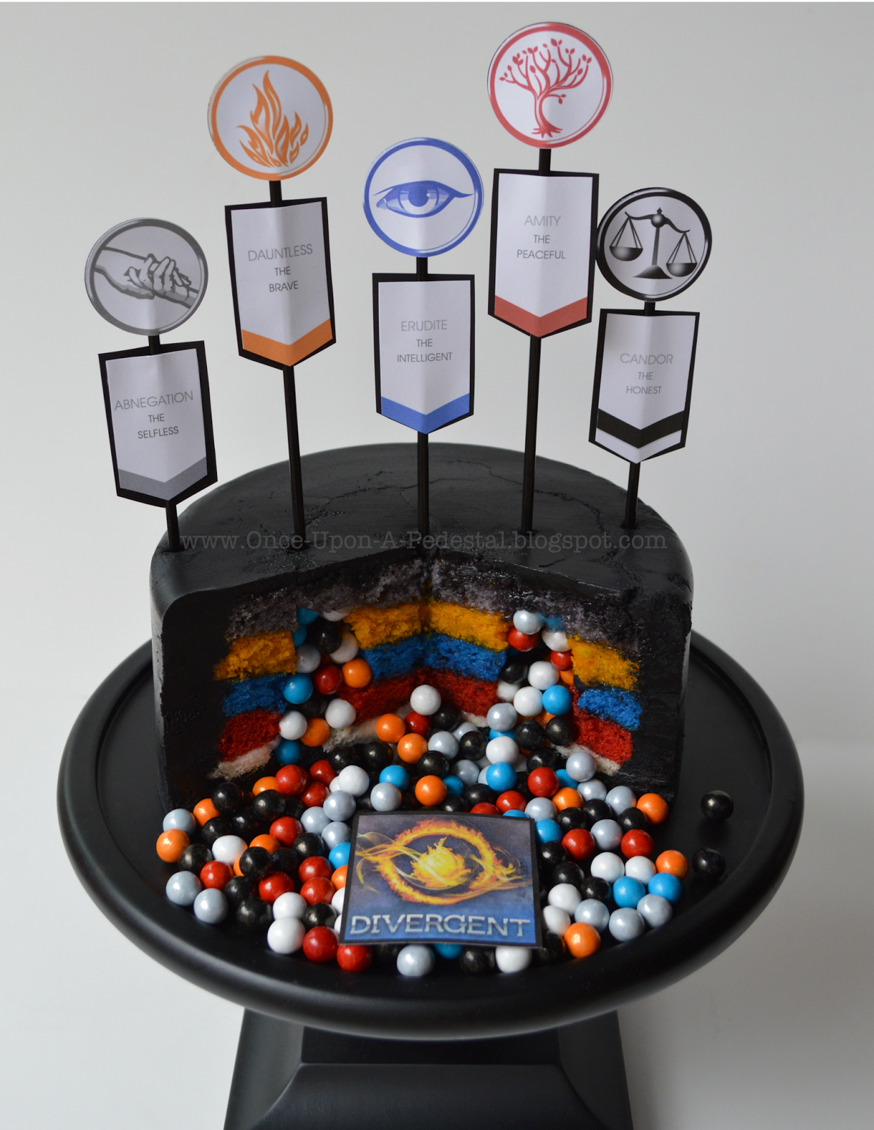 Birthdays Surprise Inside Factions Divergent Cake