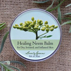 Healing Neem Balm for Dry, Irritated, and Inflamed Skin ~ Treats Eczema and, I assume, Psoriasis, too. $12.95/ There is also a recipe for making your own,
