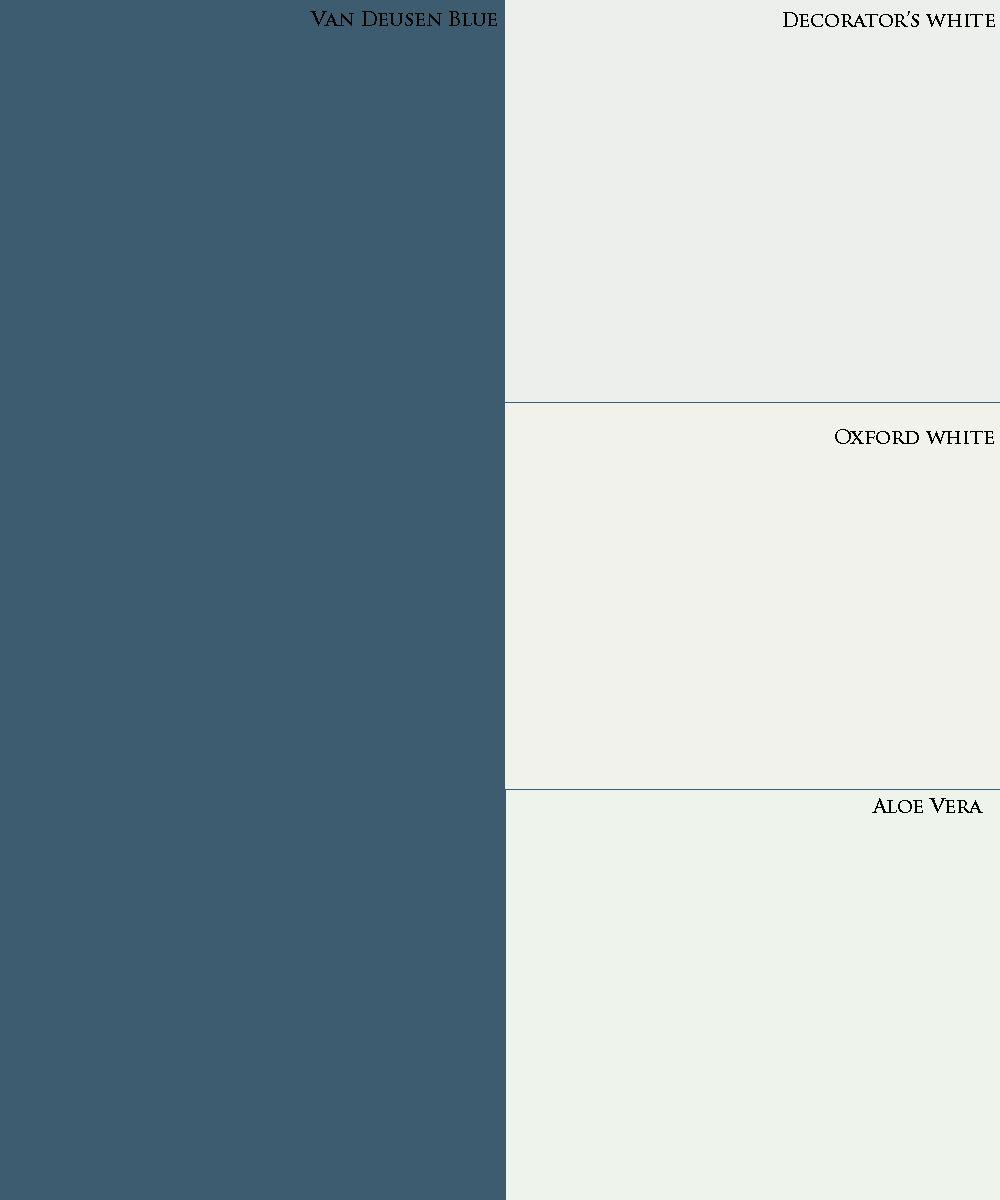 Benjamin Moore Paint Palette Van Deusen Blue Decorator S White Oxford Aloe Vera