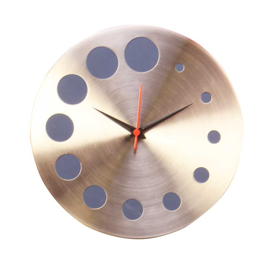Stainless Steel Clock Stainless Steel Wall Clock With Images Wall Clock Clock Steel Wall