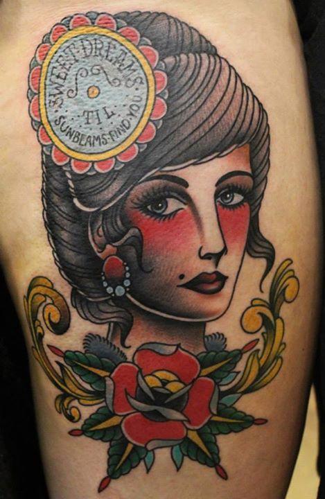Tattoo by Phatt German | Woman\'s traditional tattoos