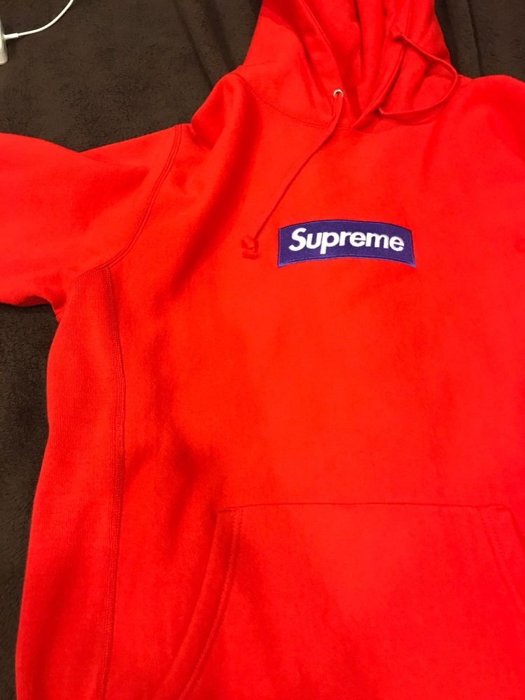 0437c75b29bc SUPREME FW17 Box Logo BOGO Hoodie Red Purple Large Pre-owned  fashion   clothing  shoes  accessories  mensclothing  activewear (ebay link)