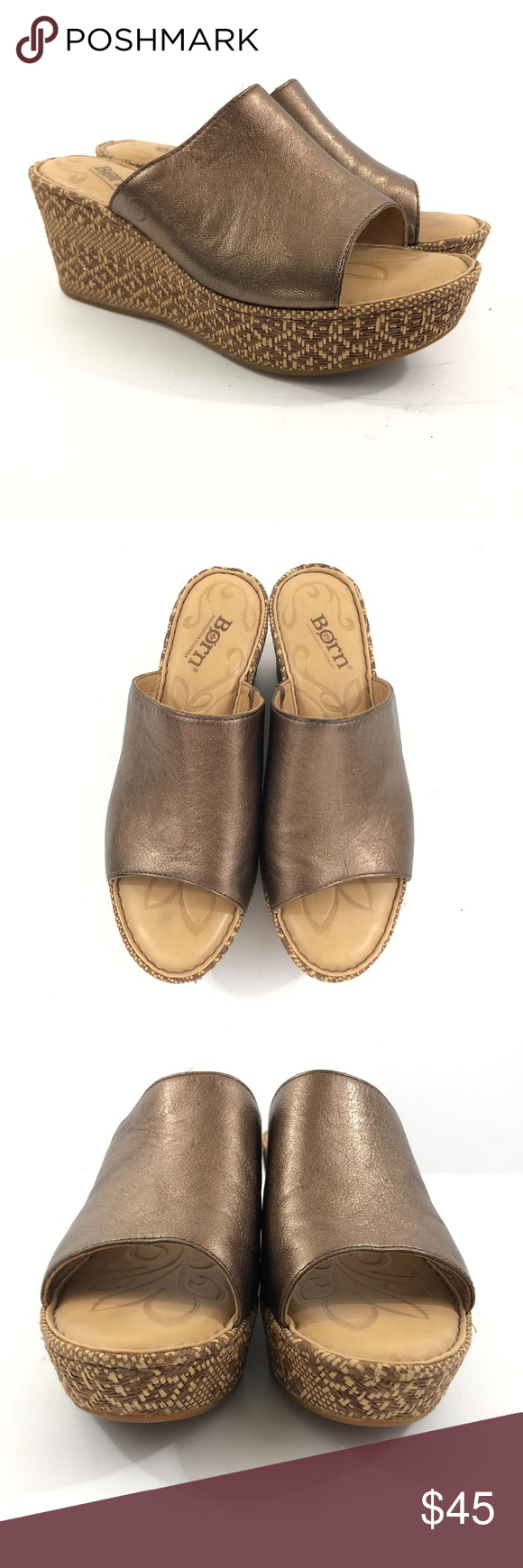 b2ab7b2422f8 Born Tilda Bronze Platform Wedge Sandals Size 7 Born Tilda Bronze Platform  Wedge Sandals Size 7