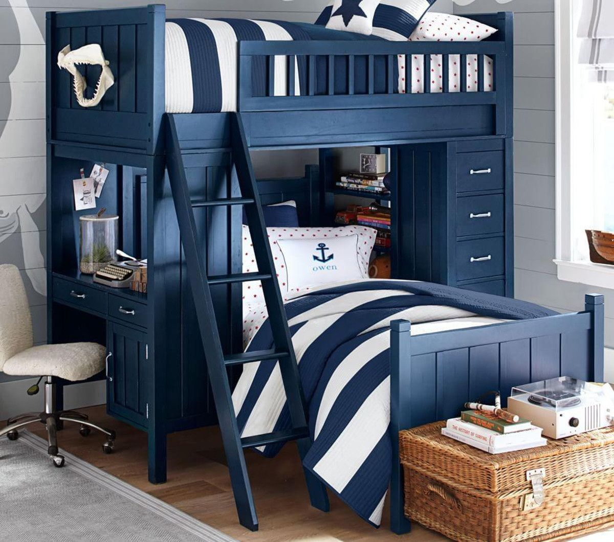 Loft bed with desk pottery barn   Pottery Barn Bunk Beds  Master Bedroom Interior Design Check