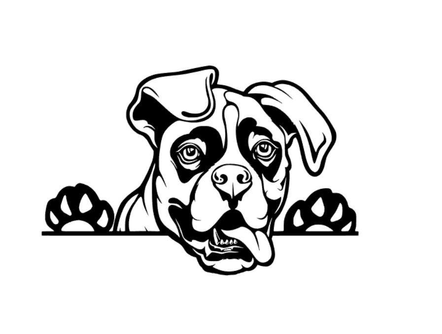 Peeking Boxer Dog Car Decal Vinyl Sticker Dog Decals Car Decals Vinyl Boxer Dogs