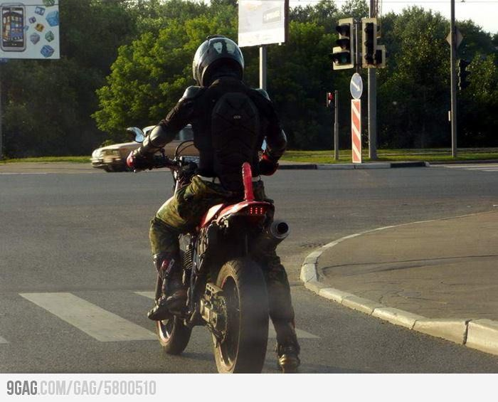 That S One Way To Secure Passenger On Your Motorcycle With