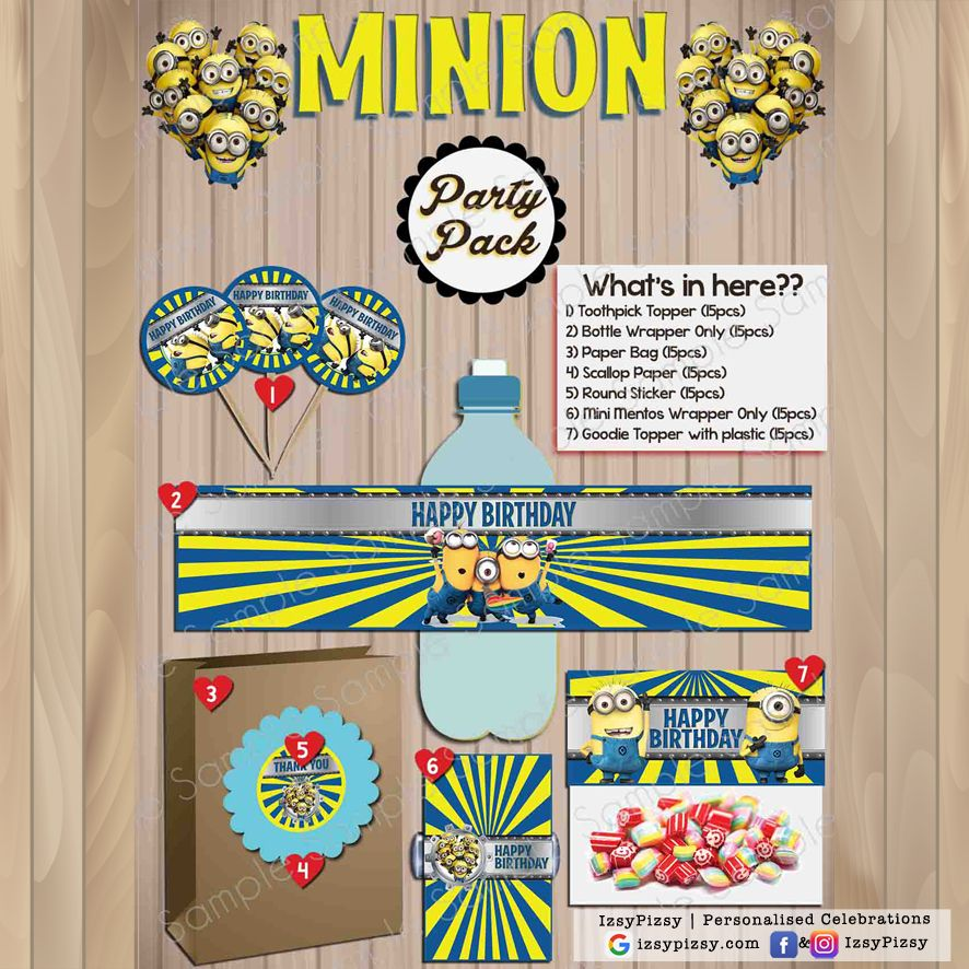 Pin On Minions Birthday Party