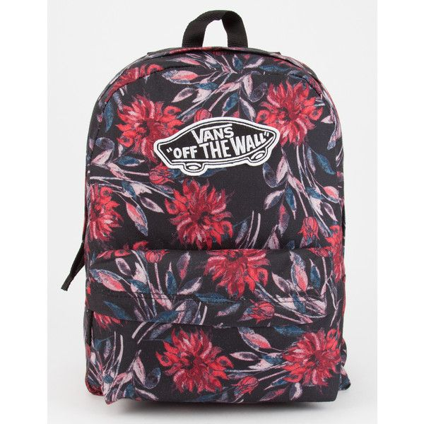 Vans Black Dahlia Realm Backpack featuring polyvore 1a5fb324755ab