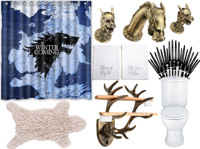 Rule The Porcelain Throne With A Game Of Thrones Themed Bathroom Offbeathome Game Of Thrones Merchandise Game Of Thrones Throne
