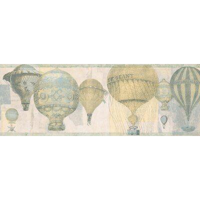 "Astoria Grand Sina Hot Air Balloons 15' L x 7"" W Wallpaper"