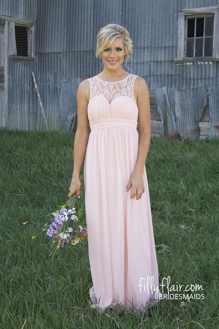 Savanna in lace bridesmaid in blush pink a beautiful long savanna in lace bridesmaid in blush pink a beautiful long bridesmaid dress ombrellifo Images