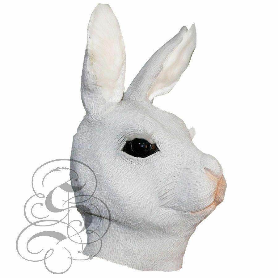 Latex Animal Woodland Rabbit Head Mask Costume Prop Fancy Dress Halloween