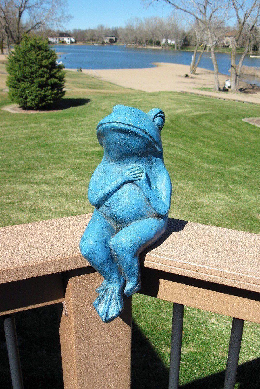 Handmade Resin Frog Statue for Fairy Garden Yard Decorative Art Craft