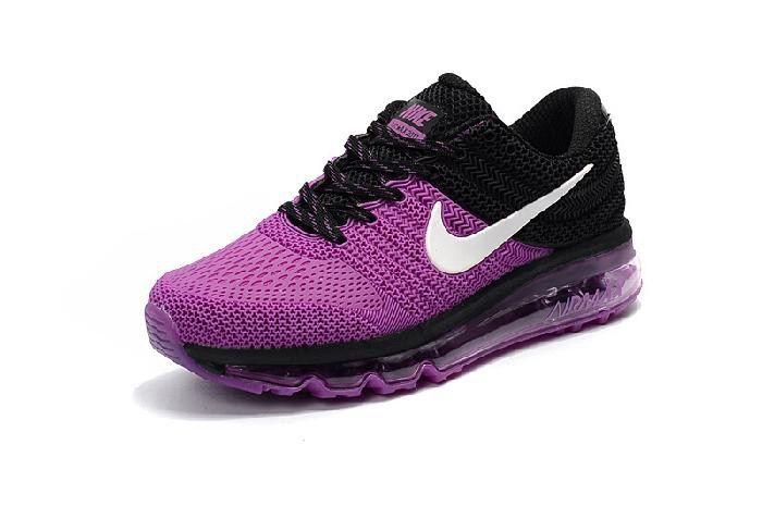 Best Nike Air Max 2017 Women Running Shoes Purple Pink Black